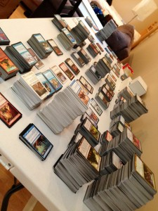 We mentioned Ben's collection of MtG cards. Say hello to them all!